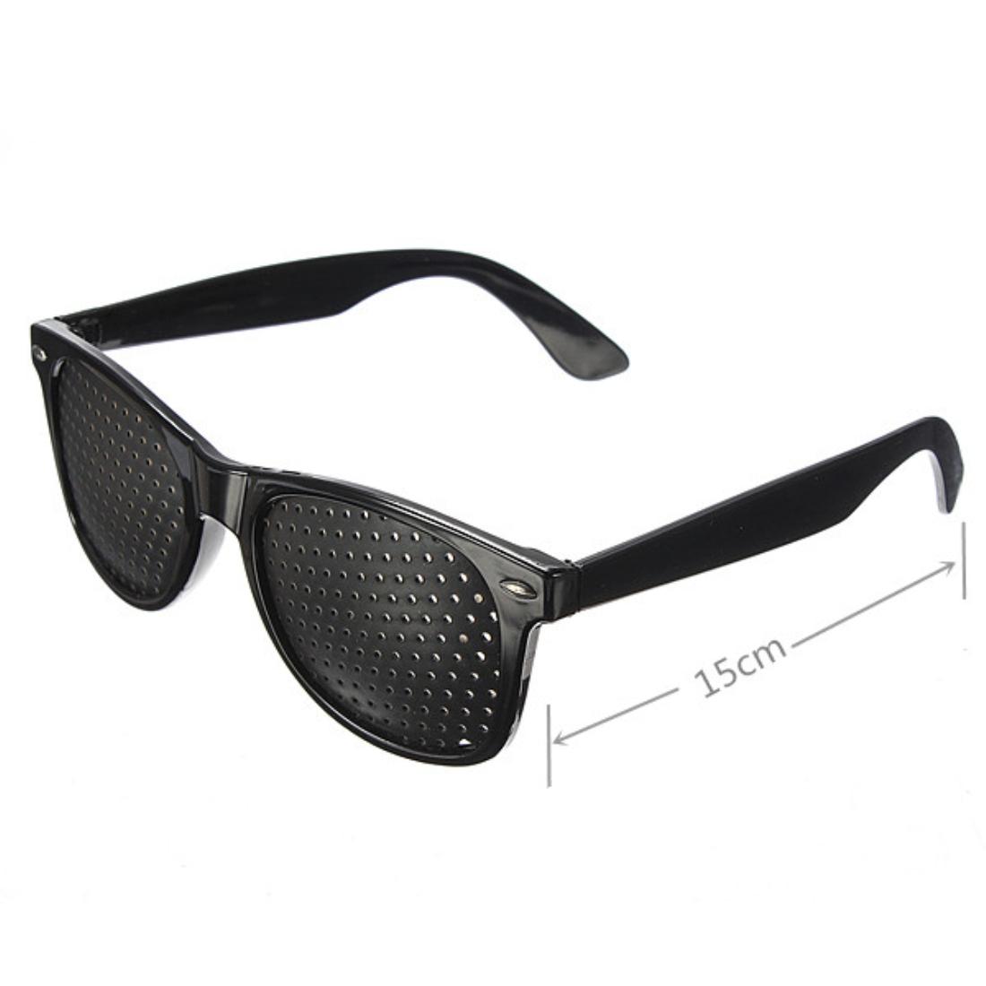 Lunettes à Trous Sténopé Grille Vue Améliorer Vision Exercice  guérison des yeux