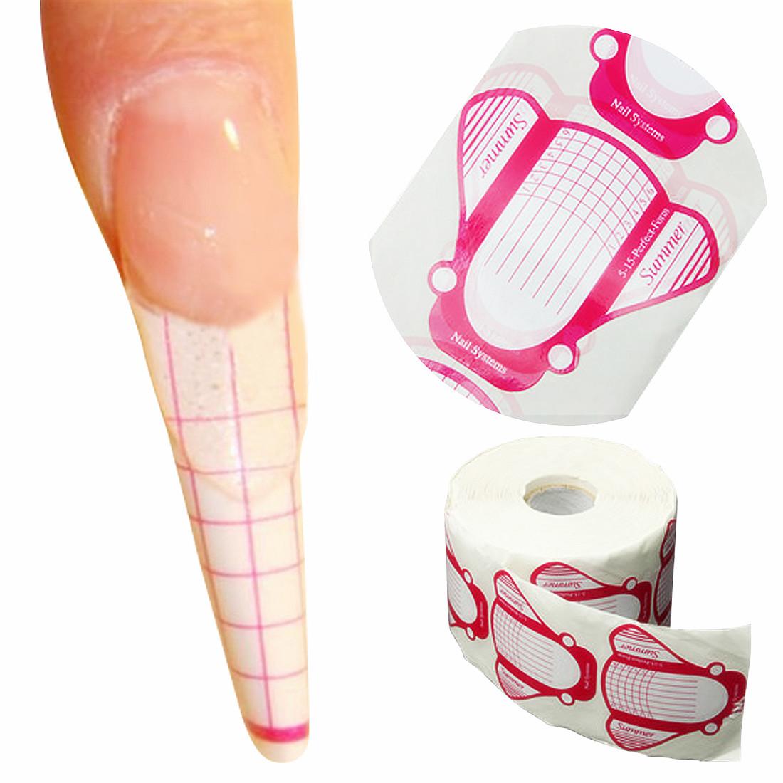 Pcs roll nail art uv gel extension self adhesive guide