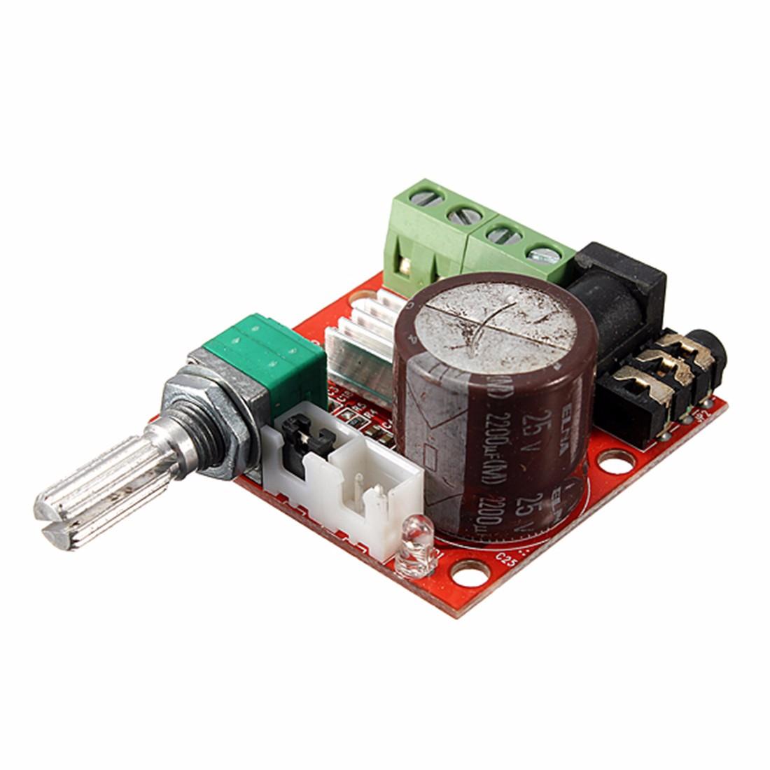 3Pcs 2X10W Salut-Fi PAM8610 Audio Module Amplificateur Stéréo Carte Double Ca ww