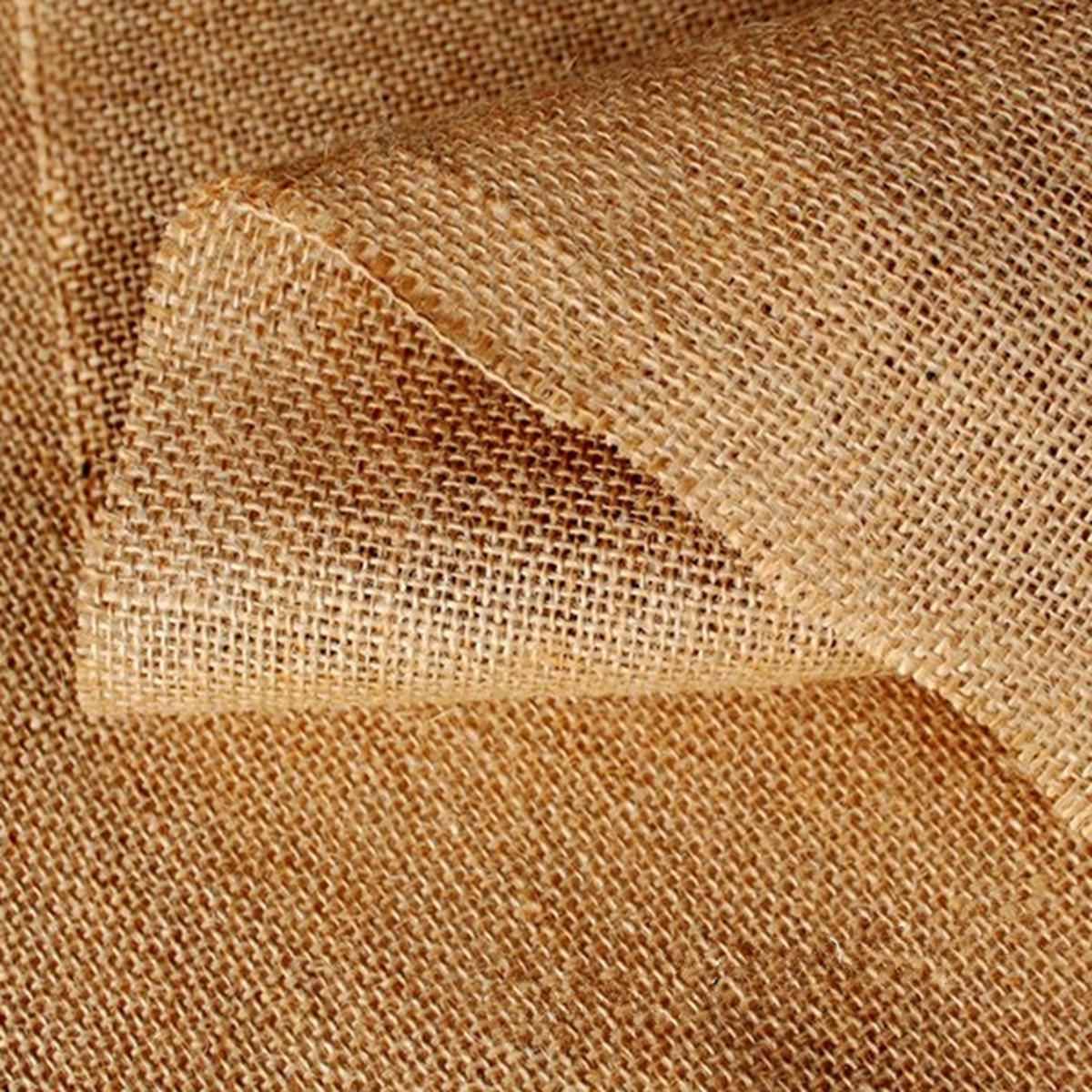 toile de jute naturelle tissu diy patchwork lin bordure dentelle d cor mariage achat vente. Black Bedroom Furniture Sets. Home Design Ideas