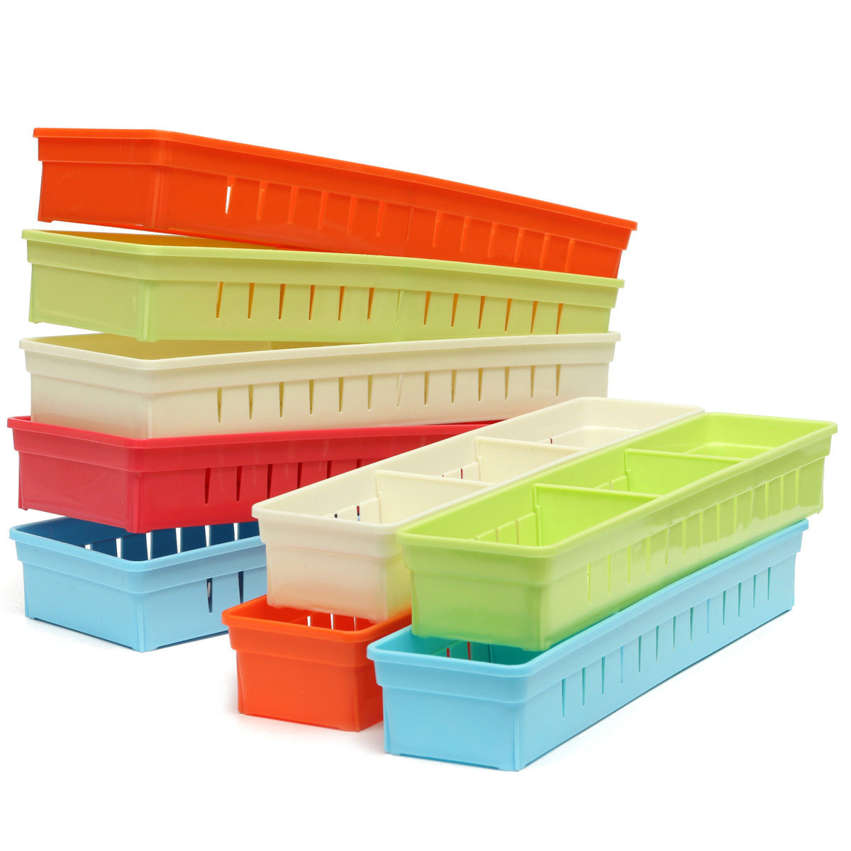 Cabinet drawer cutlery organizer storage box flatware for Box for flatware storage