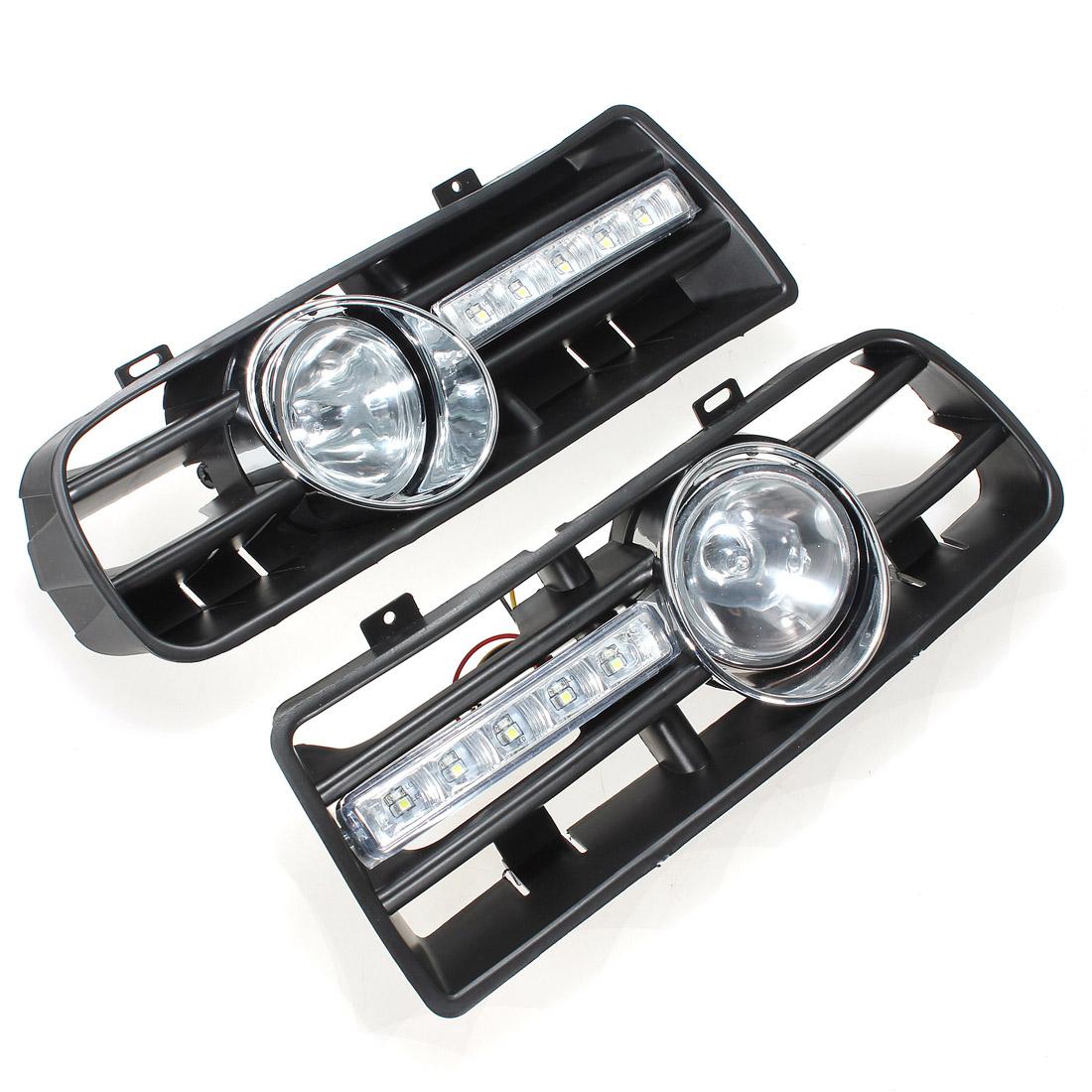 2 x led phares antibrouillard projecteur grille pare chocs voiture pr 97 06 vw golf 4 mk4 iv. Black Bedroom Furniture Sets. Home Design Ideas