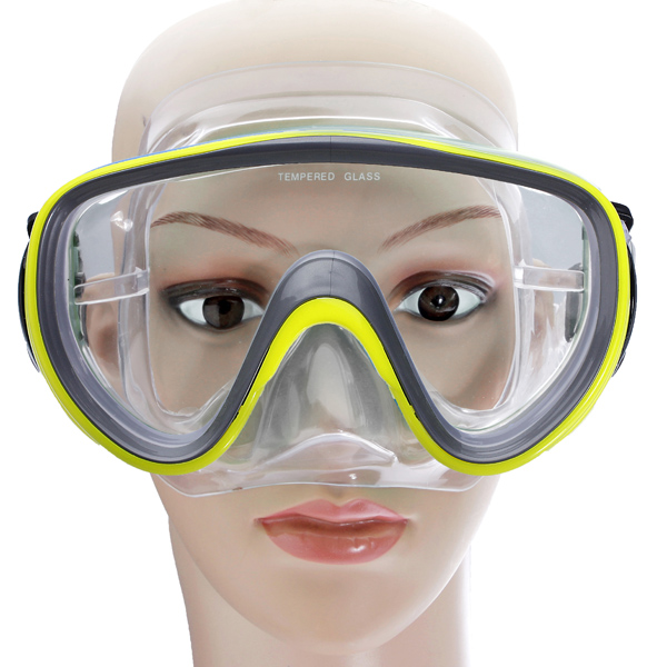 anti fog goggles  Swimming Scuba Anti-Fog Goggles PVC Mask Diving Glasses Yellow ...