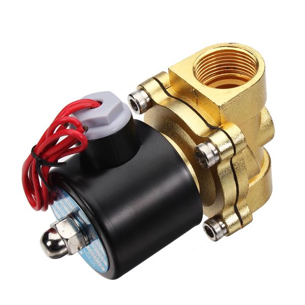 laiton 220v ac 1 2 vanne pouce lectrique air eau combustibles gaz electrovanne achat vente. Black Bedroom Furniture Sets. Home Design Ideas