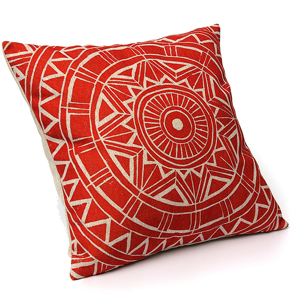 How To Make A Round Throw Pillow Cover : Home Decor Vintage Round Flower Gear Linen Waist Throw Pillow Case Cushion Cover Lazada Malaysia