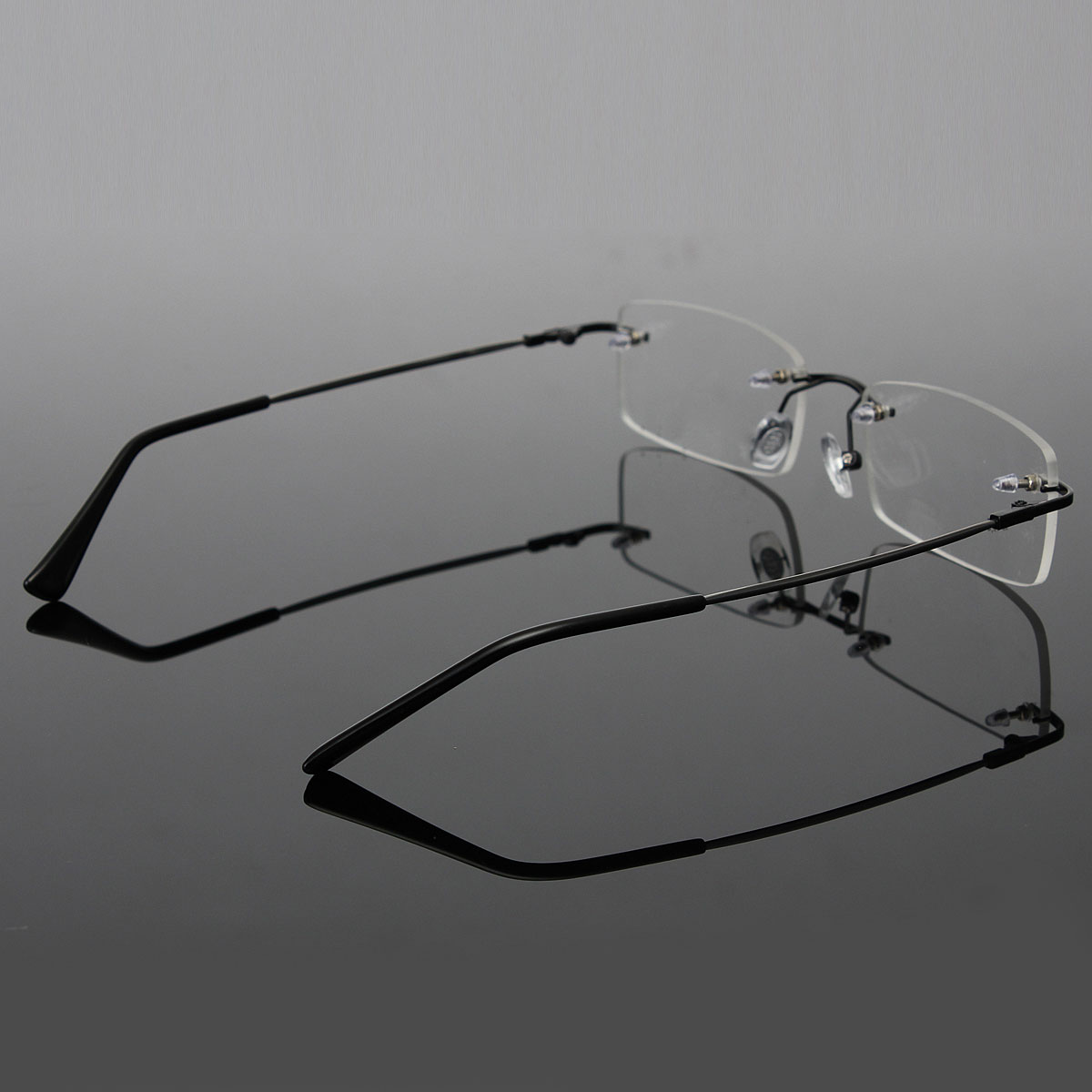 Rimless Glasses Malaysia : Mens Lightweight Portable Memory Titanium Rimless ...