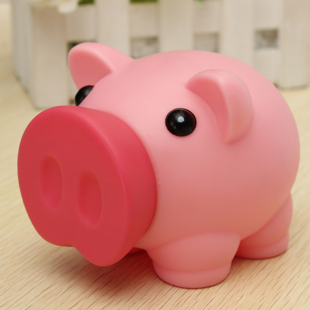 Breakageproof cute plastic animal piggy bank saving cash Plastic piggy banks for kids