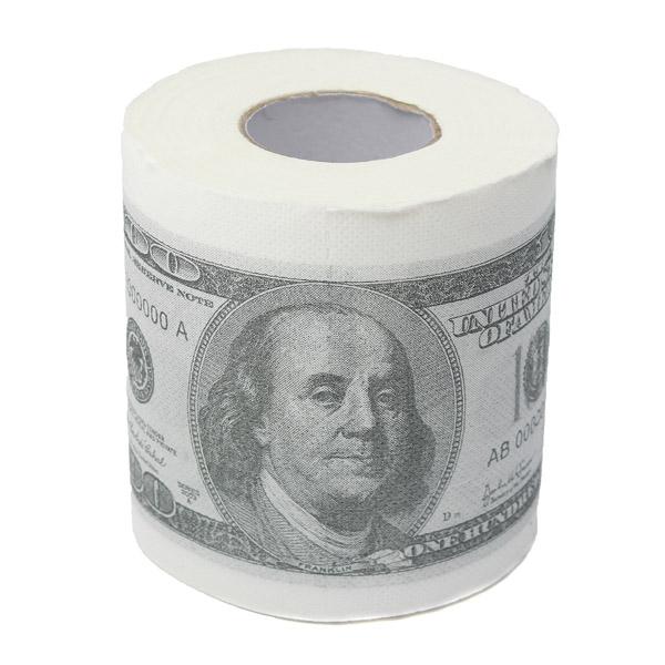 rouleau papier toilette dollar 100 buck argent billet imprim fantaisie 10x10cm. Black Bedroom Furniture Sets. Home Design Ideas