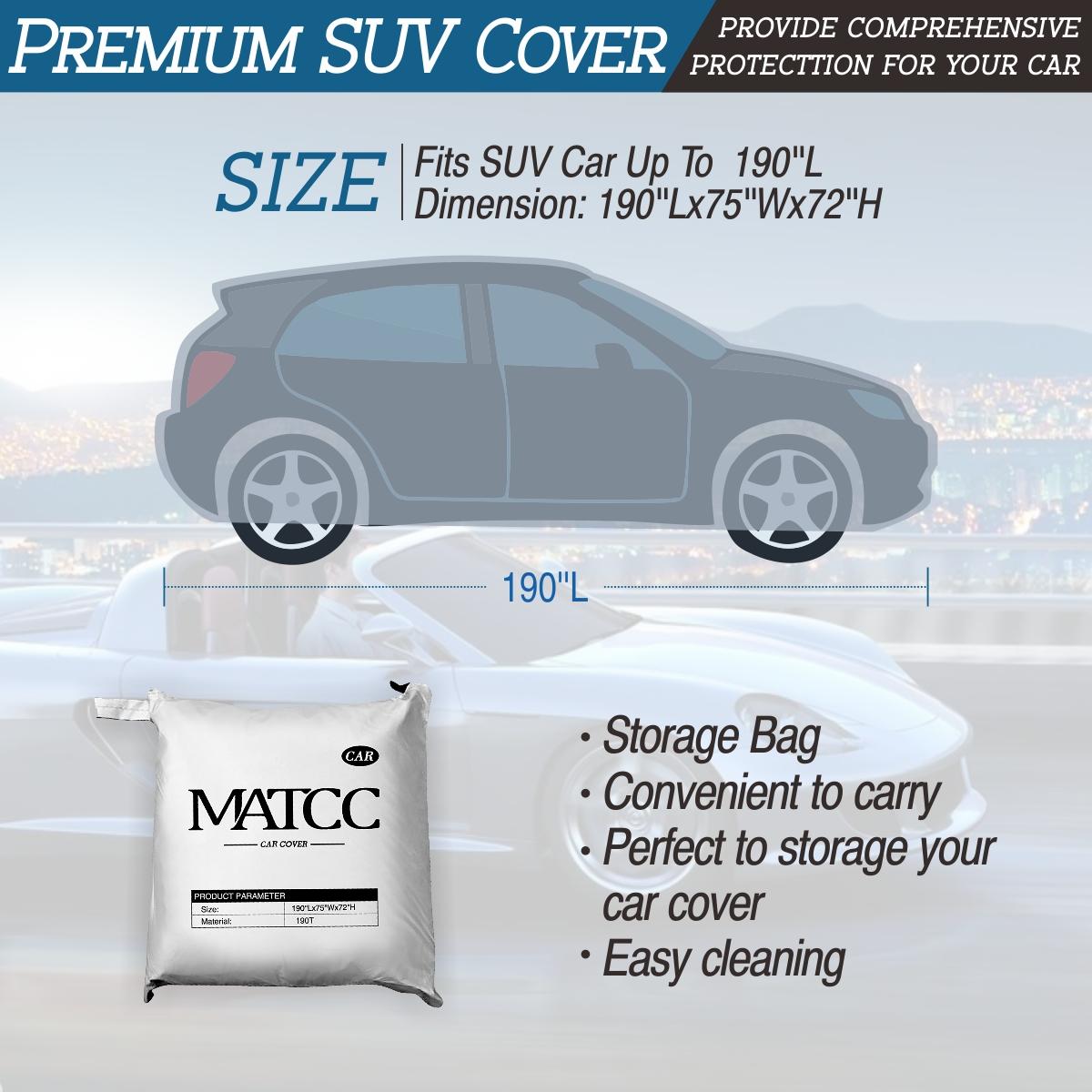 Matcc-SUV-car cover design-185''L