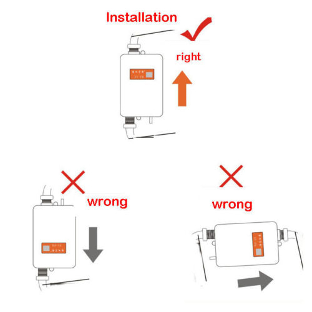 Buy Universal Tankless Instant Electric Hot Water Heater Bathroom Shower Wiring Diagram Image