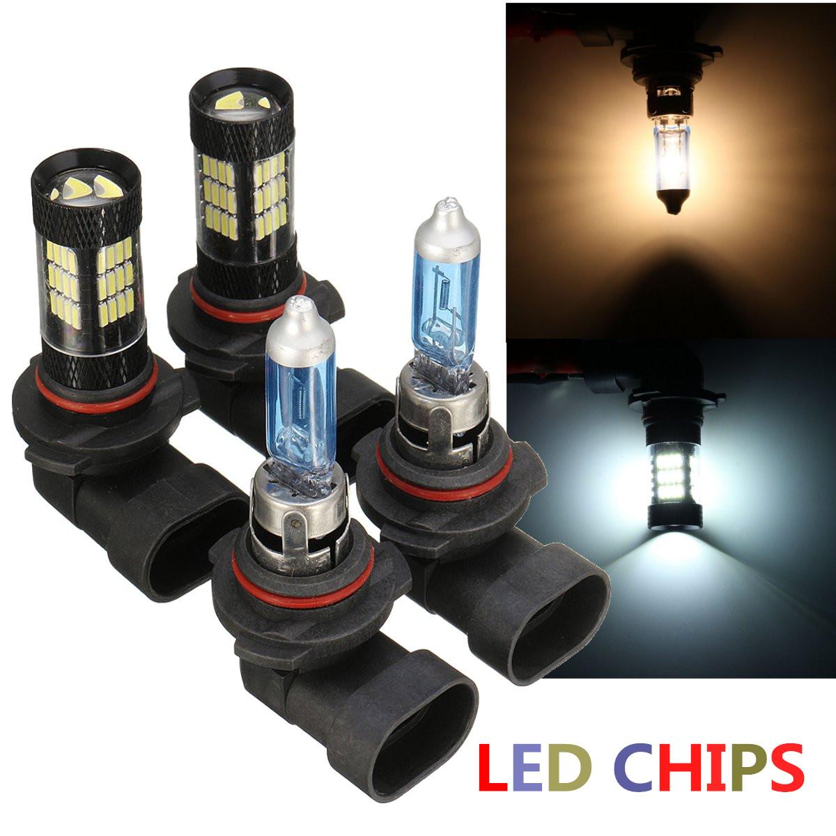 9006 HB4 Samsung LED Chip 30 SMD White 6000K Headlight 2x Light Bulb Low Beam