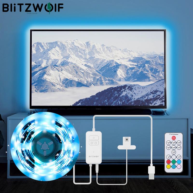 Bộ Đèn Dây TV RGB BlitzWolf 2M, Bộ Đèn Dây Đồng Bộ Với Màn Hình TV, Màu Cho TV, Hiệu Ứng Ánh Sáng RGB Sống Động, 60 Hạt Đèn SMD5050 thumbnail