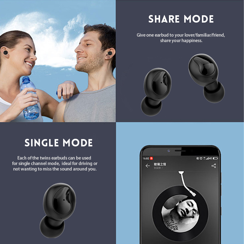 3ff700a0b55 Generic TWS True Wireless Earphone IPX5 Noise Cancelling with ...