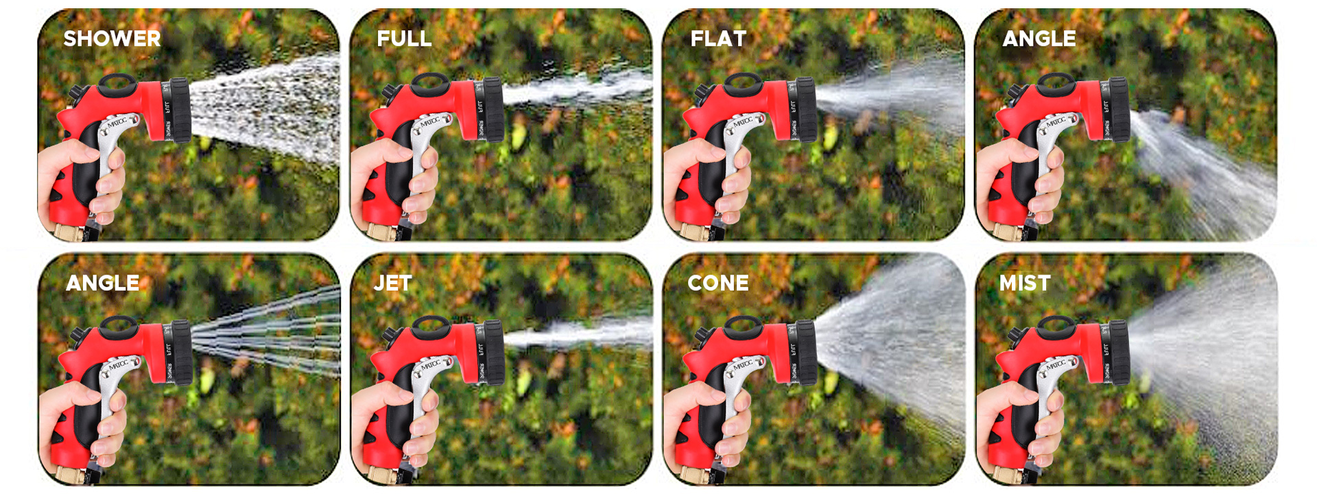 8 Patterns Spray Nozzles