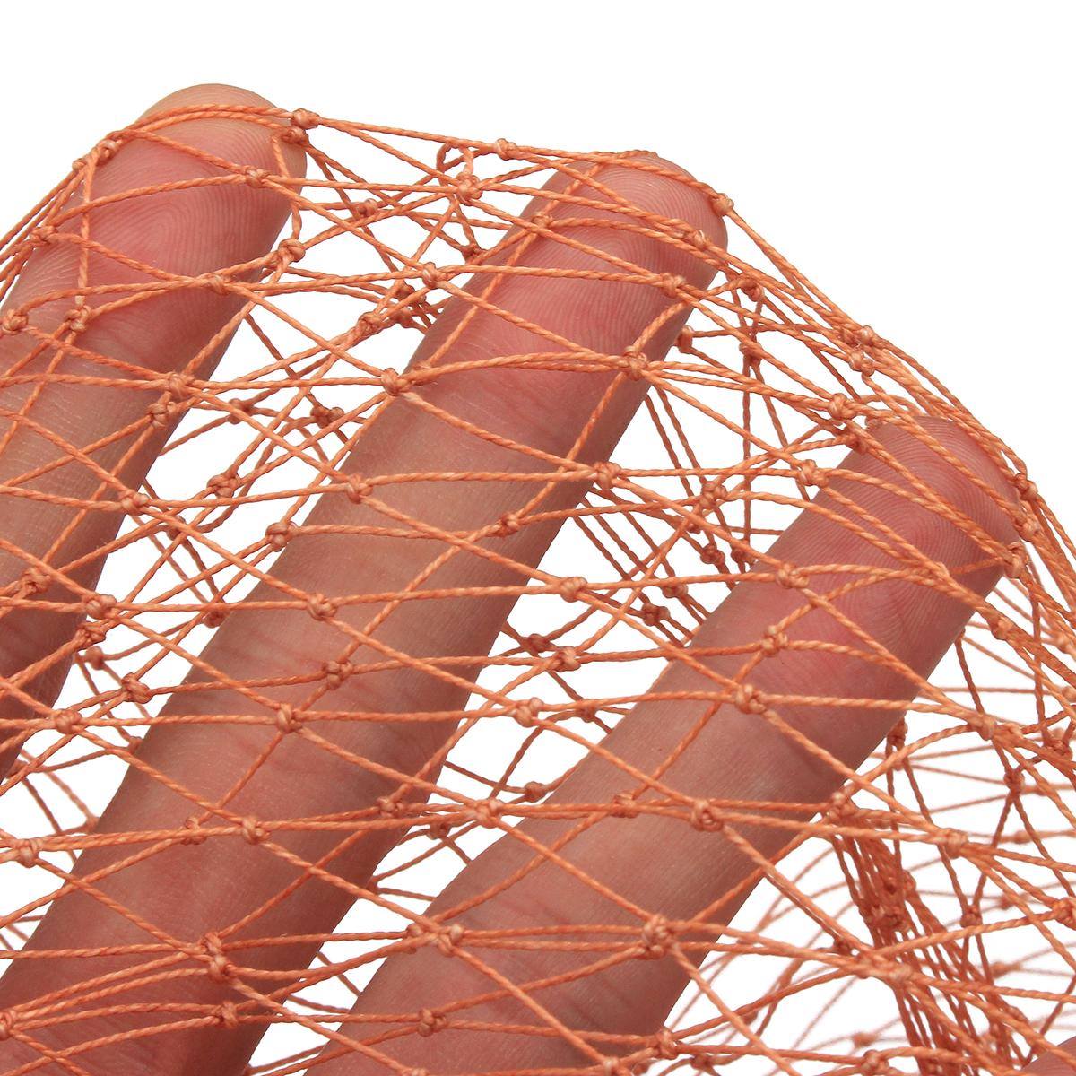 Filet de p/êche en Nylon Filet pour app/âts avec Corde de la Main 8 m Zoternen 2,4 m//3,6 m//4,8 m Filet de p/êche de Lancement de la Main Maille de 0,5 Petit Doigt 2.4m