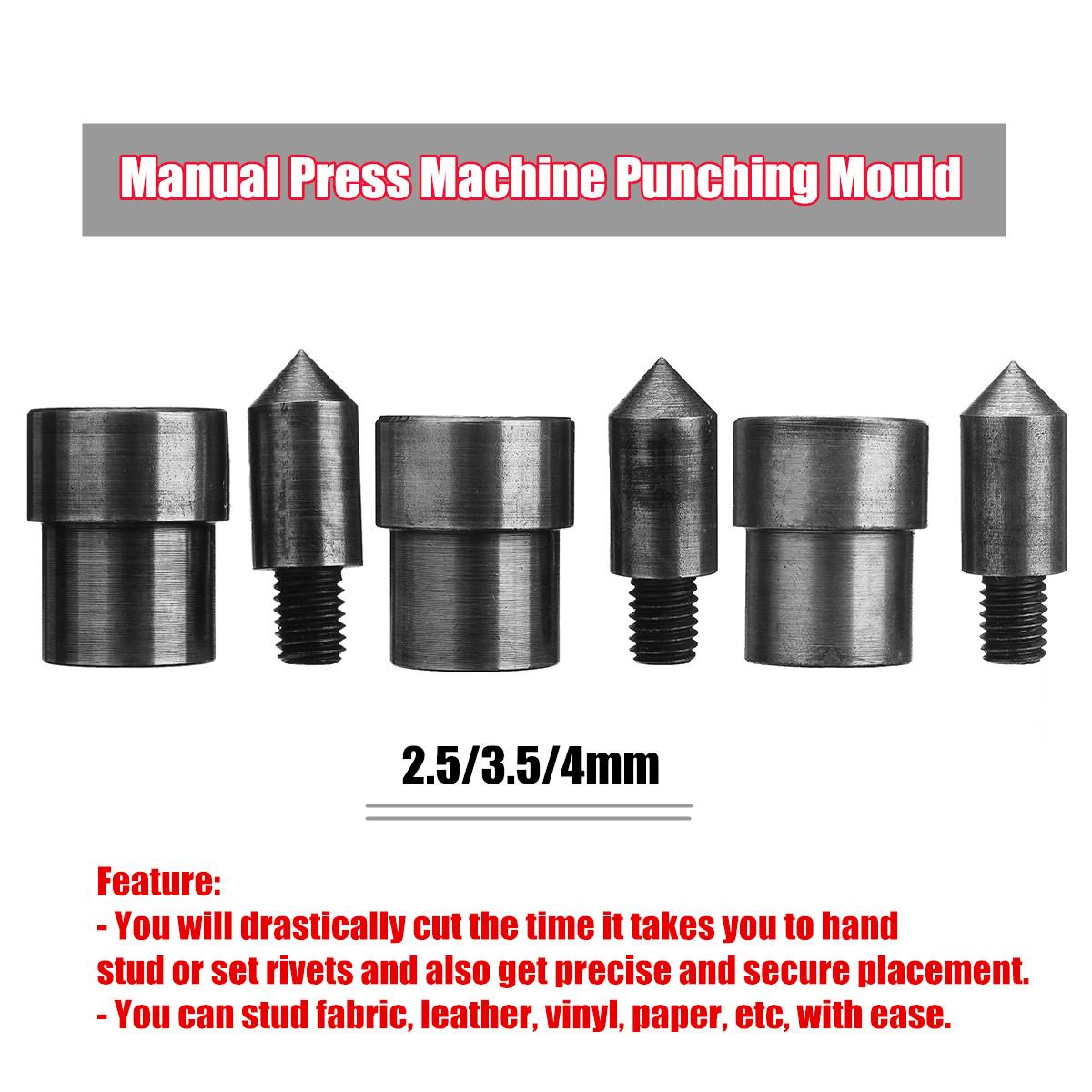 JZK Lourd Devoir 5mm perforateur monotrou et Pince /à Riveter /à oeillet Ensemble avec 200 Rivets en Argent pour Papier Carton Ceinture en Cuir Tissu Mince en Plastique Goujon en m/étal poin/çon kit