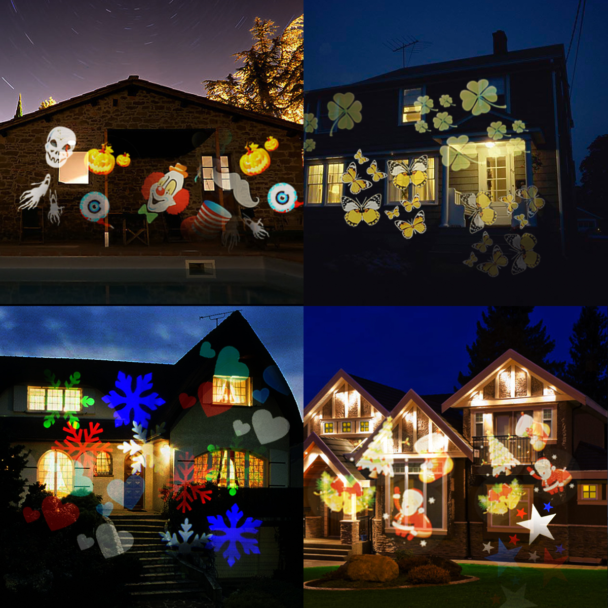 Christmas projector lightscamtoa 12 pattern led light projector christmas projector lightscamtoa outdoor led light projectorstar shower projector lightgarden lamp 12 switchable pattern lens led landscape spotlight aloadofball Gallery