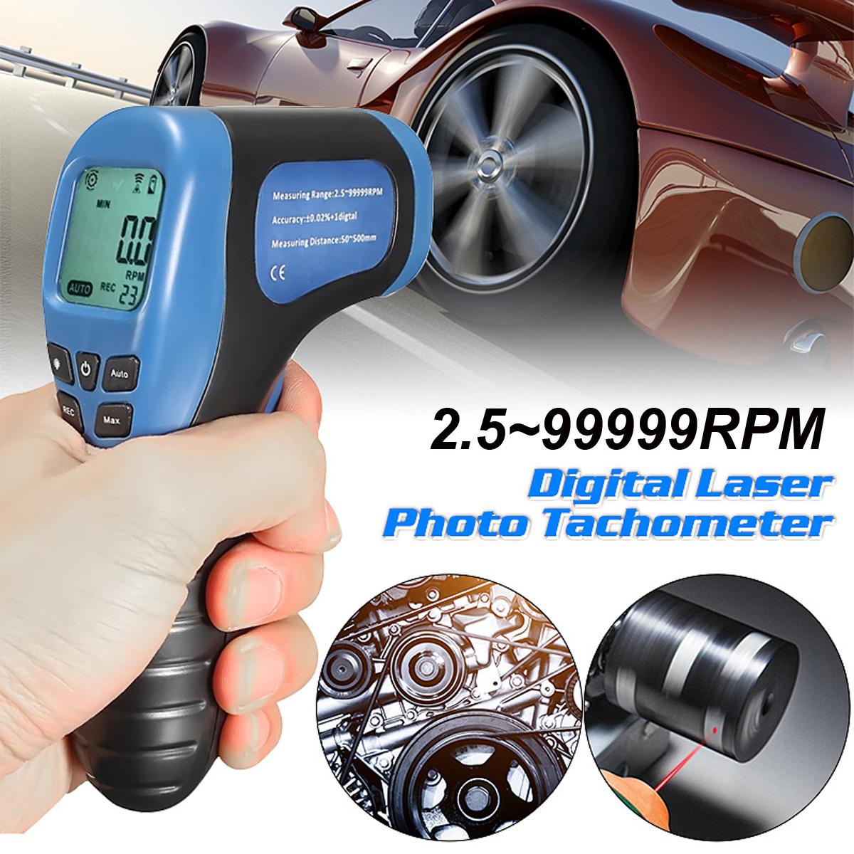 Цифровой бесконтактный лазерный фото-тахометр для измерения скорости