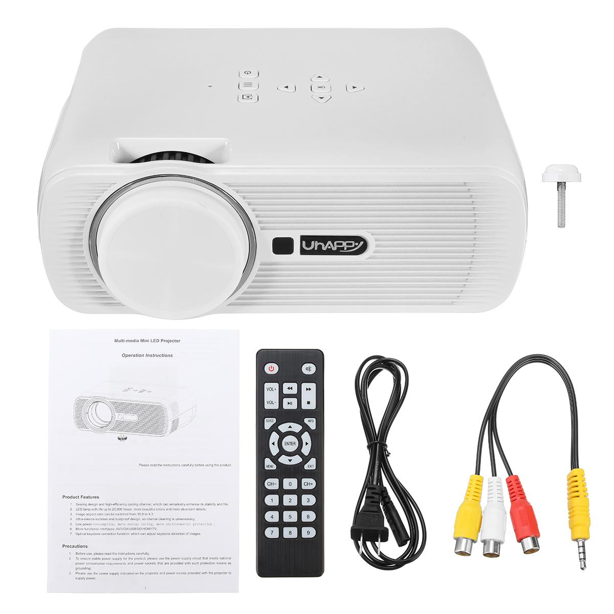 3000 LUMENS HD 1080P MOVIE Home Cinema Theater Projector HDMI/USB/AV/VGA/SD