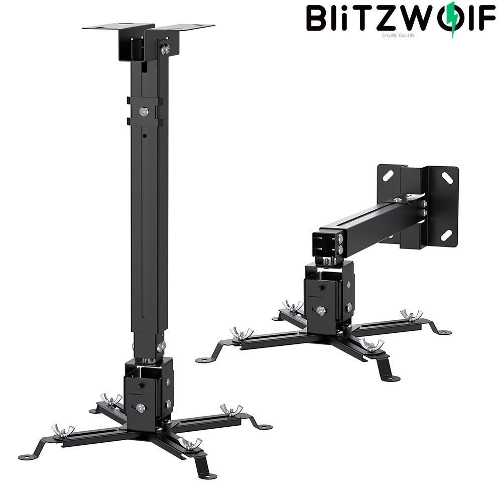 BlitzWolf BW-VF2 Gắn Máy Chiếu Treo Tường Giá Đỡ Giá Treo Có Thể Mở Rộng Có Thể Điều Chỉnh 30 Xoay 4 Dual-Kết Nối thumbnail