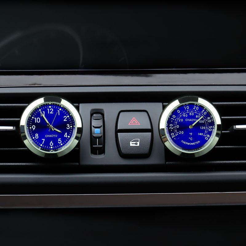 Автомобильный термометр с часами и очистителем воздуха в салоне