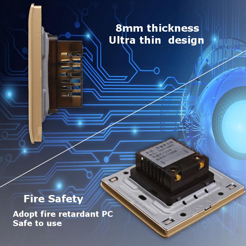 Умный дом Настенный смарт выключатель с голосовым управлением и датчиком света (Фото 2)