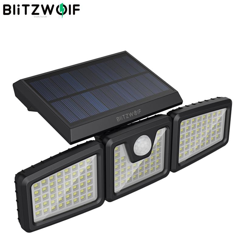 BlitzWolf BW-OLT4 6500K 128 LEDs Đèn Tường Năng Lượng Mặt Trời Đèn Pha Năng Lượng Mặt Trời 3 Đầu Xoay Được Chống Nước IP64 120 Cảm Biến PIR Có Thể Điều Chỉnh thumbnail