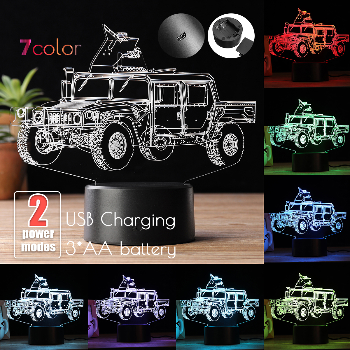 Combattant Table Couleur Neüfu Lampe Achat 3d Changement Led hCQdstr