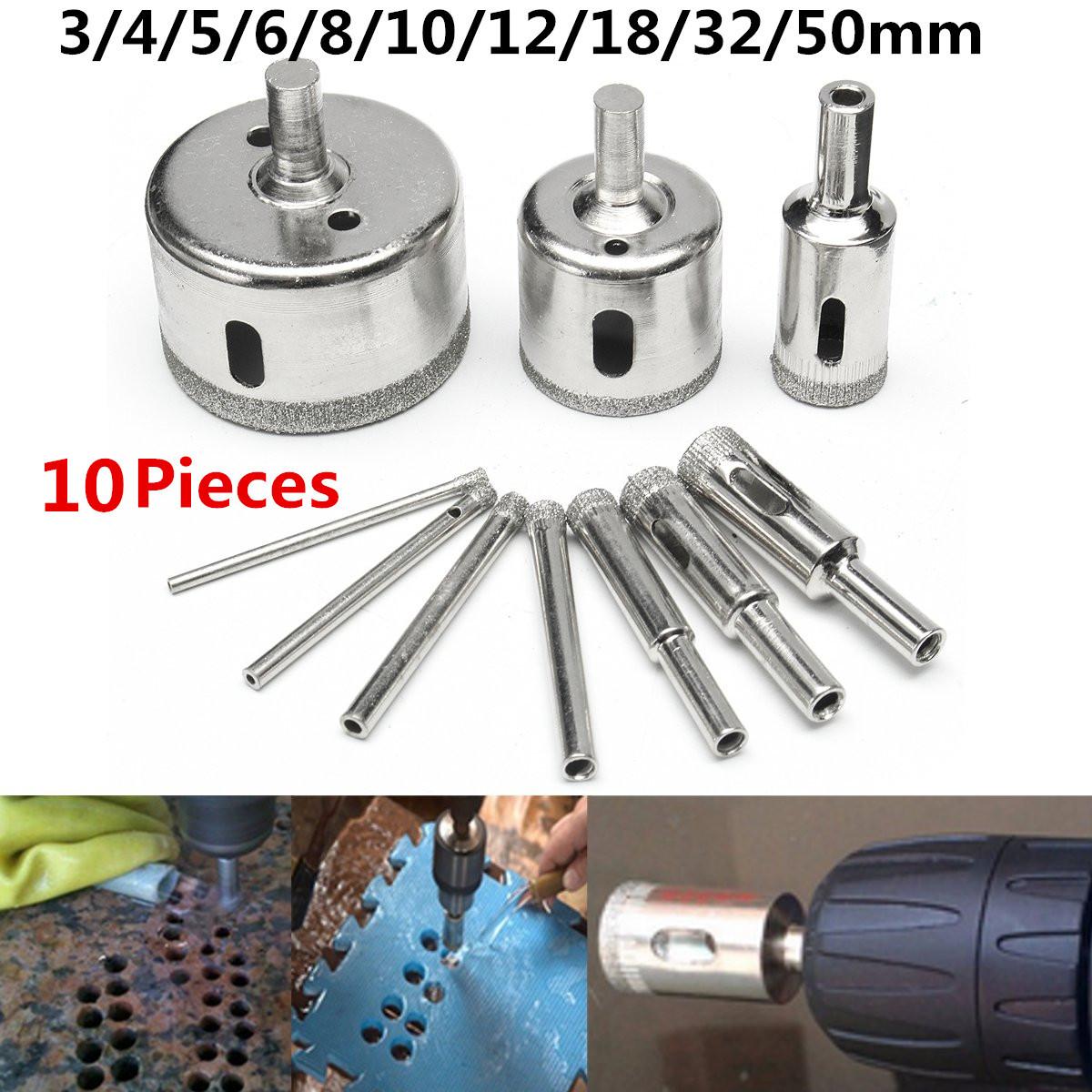 60mm-120mm Diamond Drill Bit Trou Scie Carrelage Verre Marbre Céramique Outil de coupe