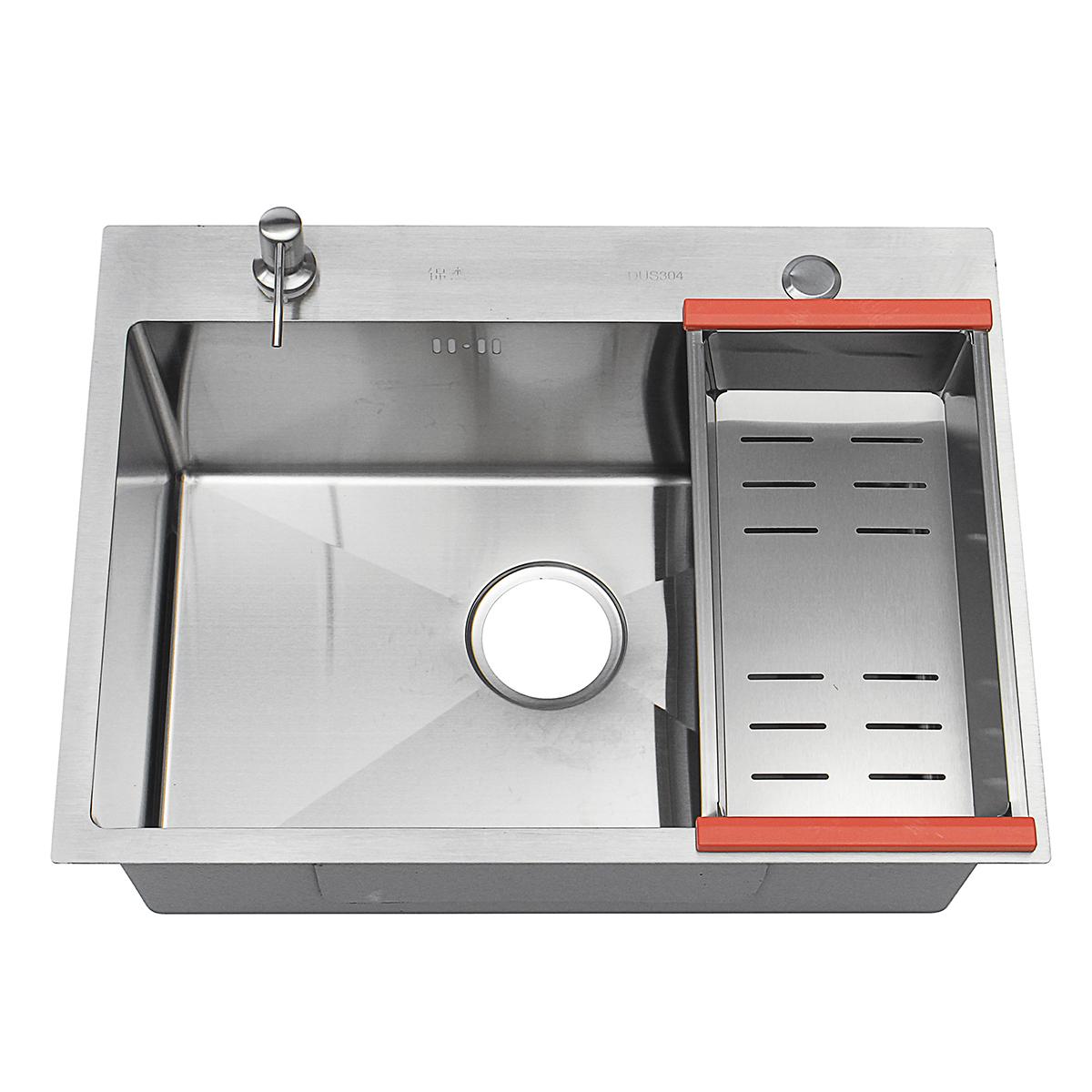 /Évier de Cuisine /Évier en Encastr/é Rectangle avec Siphon en Acier Inoxydable Lavabo pour Cuisine 50x45x22cm