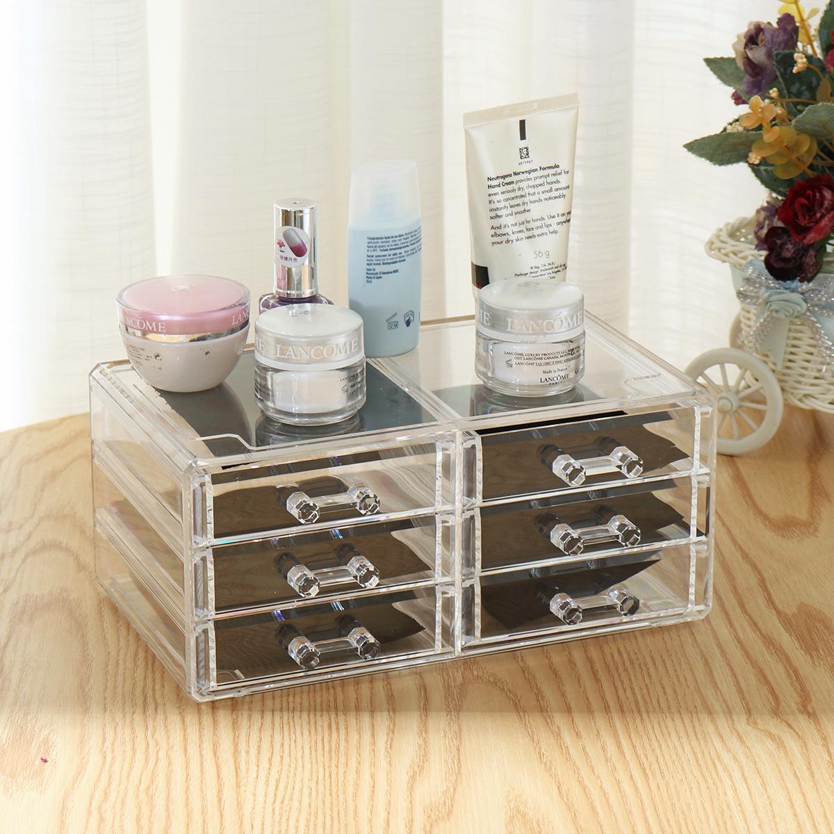 TEMPSA Présentoir Maquillage Boîte de Rangement Cosmétique Organiseur Stockage Acrylique Tiroir ...