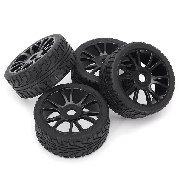 tempsa 4pcs 17mm caoutchouc jante de roue pneus dur voiture hsp achat vente accessoire. Black Bedroom Furniture Sets. Home Design Ideas