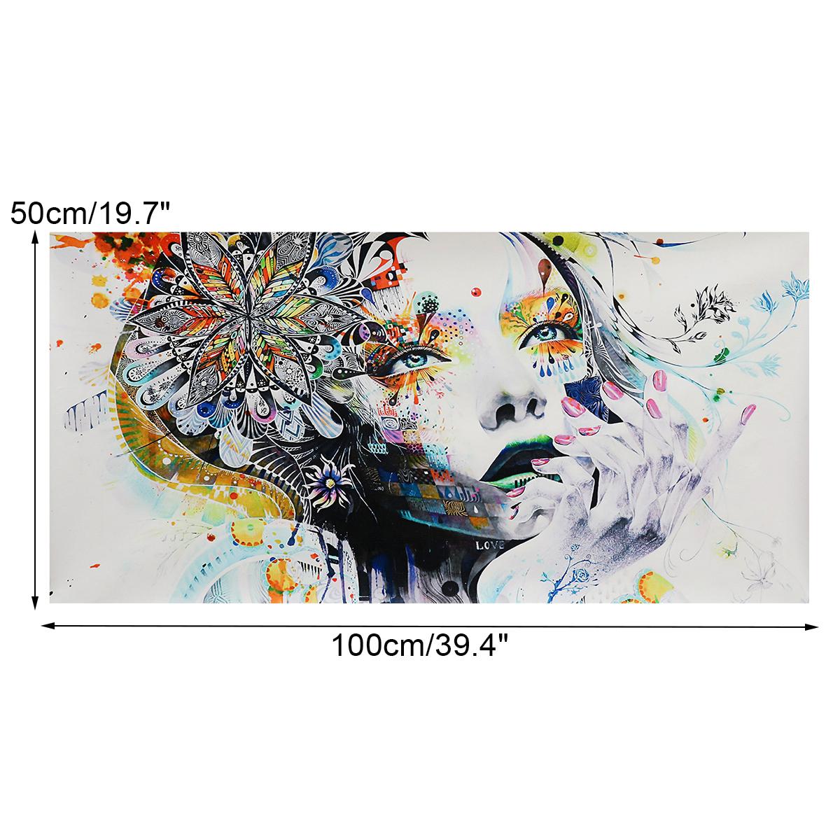 Tempsa Peinture A Huile Tableau De Toile Art Abstraite Fille Sans Cadre 100 X 50 Cm Achat Vente Tableau Toile Cdiscount