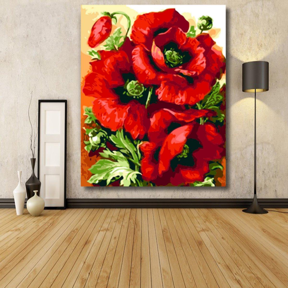 tempsa diy tableau peinture acrylique num rique de fleurs. Black Bedroom Furniture Sets. Home Design Ideas