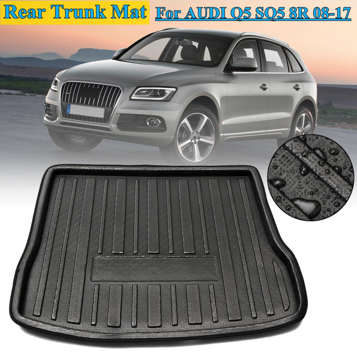 authentic super popular good texture T4W 1x Tapis de Coffre Arrière Pour AUDI Q5 SQ5 8R 2008-2017