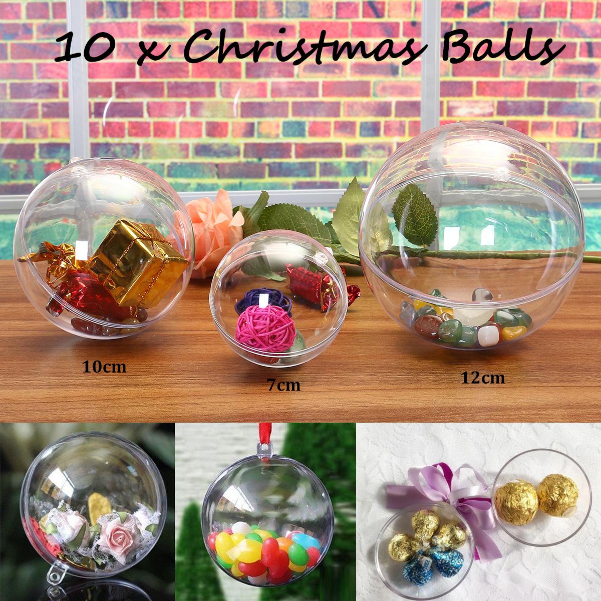 Idee Deco Boule Plastique Transparente Noel tempsa 10x boules de noël transparentes en plastique 7cm diamètre