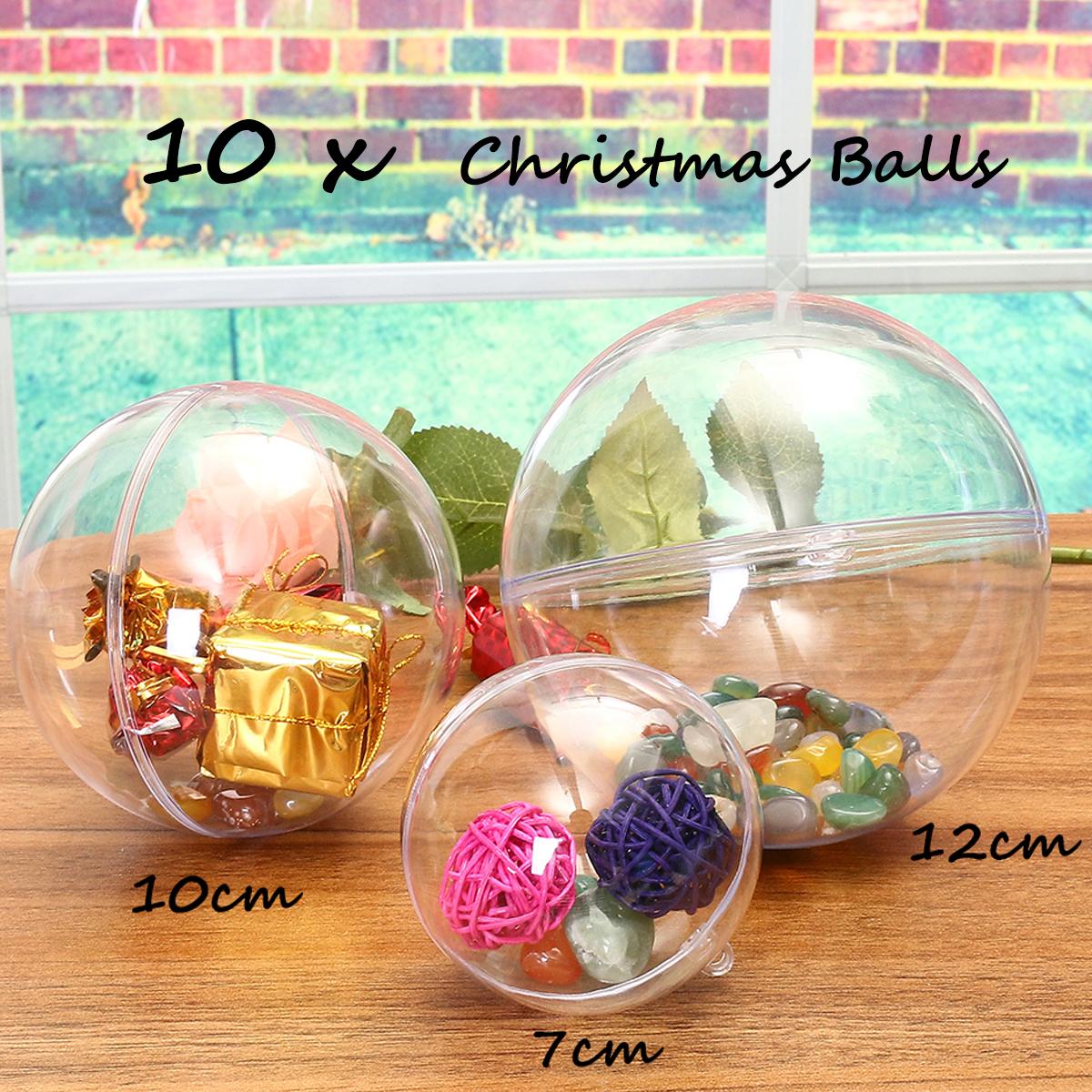 Idee Deco Boule Plastique Transparente Noel t4w 10pcs boules de noël transparentes en plastique 10cm