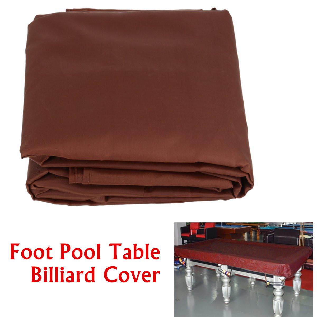 8-foot//9-foot//12-foot Couverture de Billard de Table Rev/êtement de Billard en Tissu de Polyester