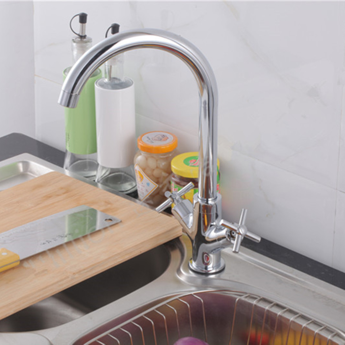 Moderne Square cascade lavabo robinet mitigeur chrome bain vestiaire CUISINE