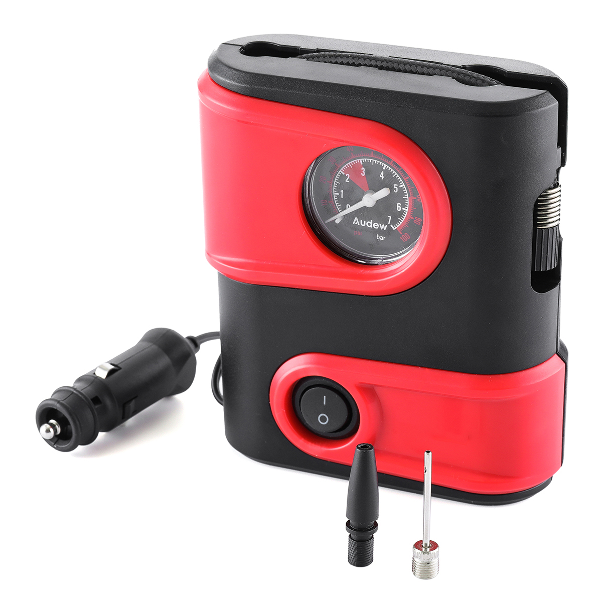Портативный электрический насос для автомобиля велосипеда 12В