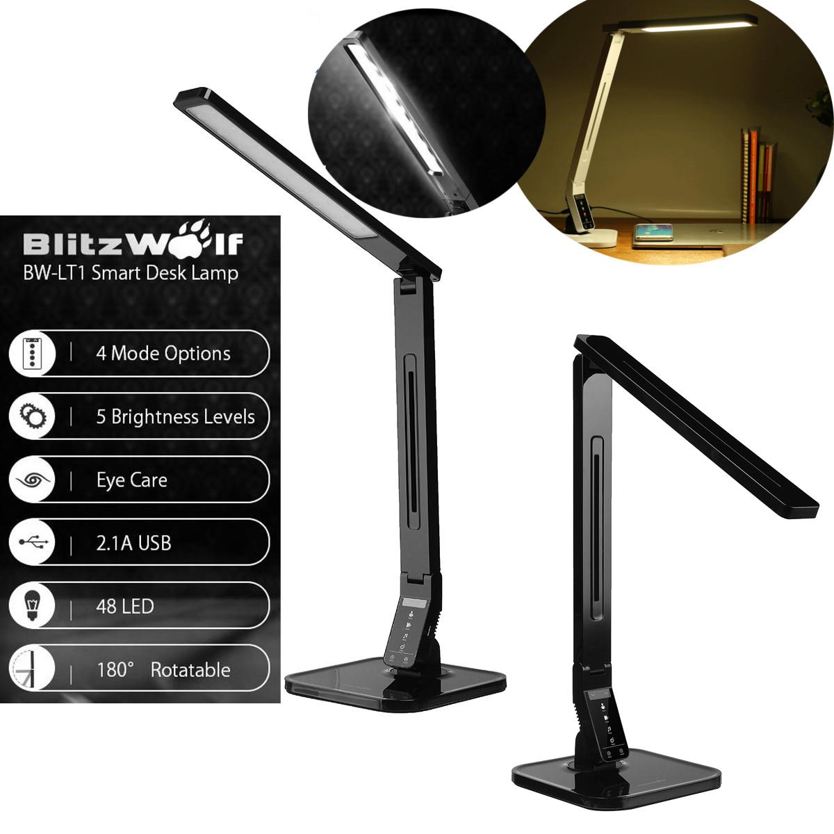 Lampe Blitzwolf® Protection Lt1 Charge De Port Bw Bureau Led Usb uJK3Tlc1F