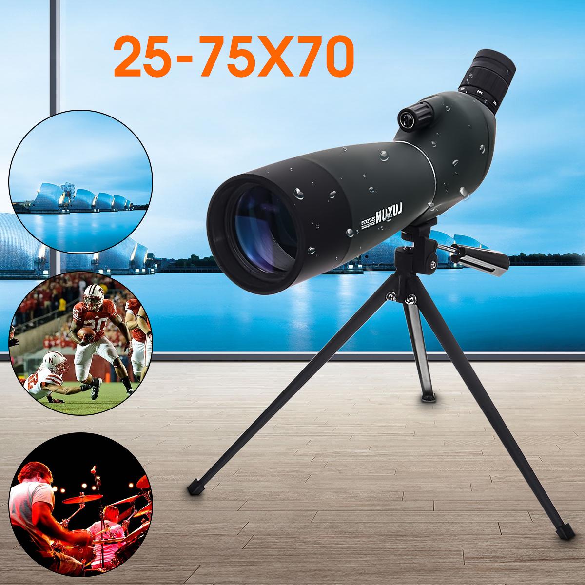 Водостойкий точечный телескоп монокуляр 25-75X70 с зумом  + штатив