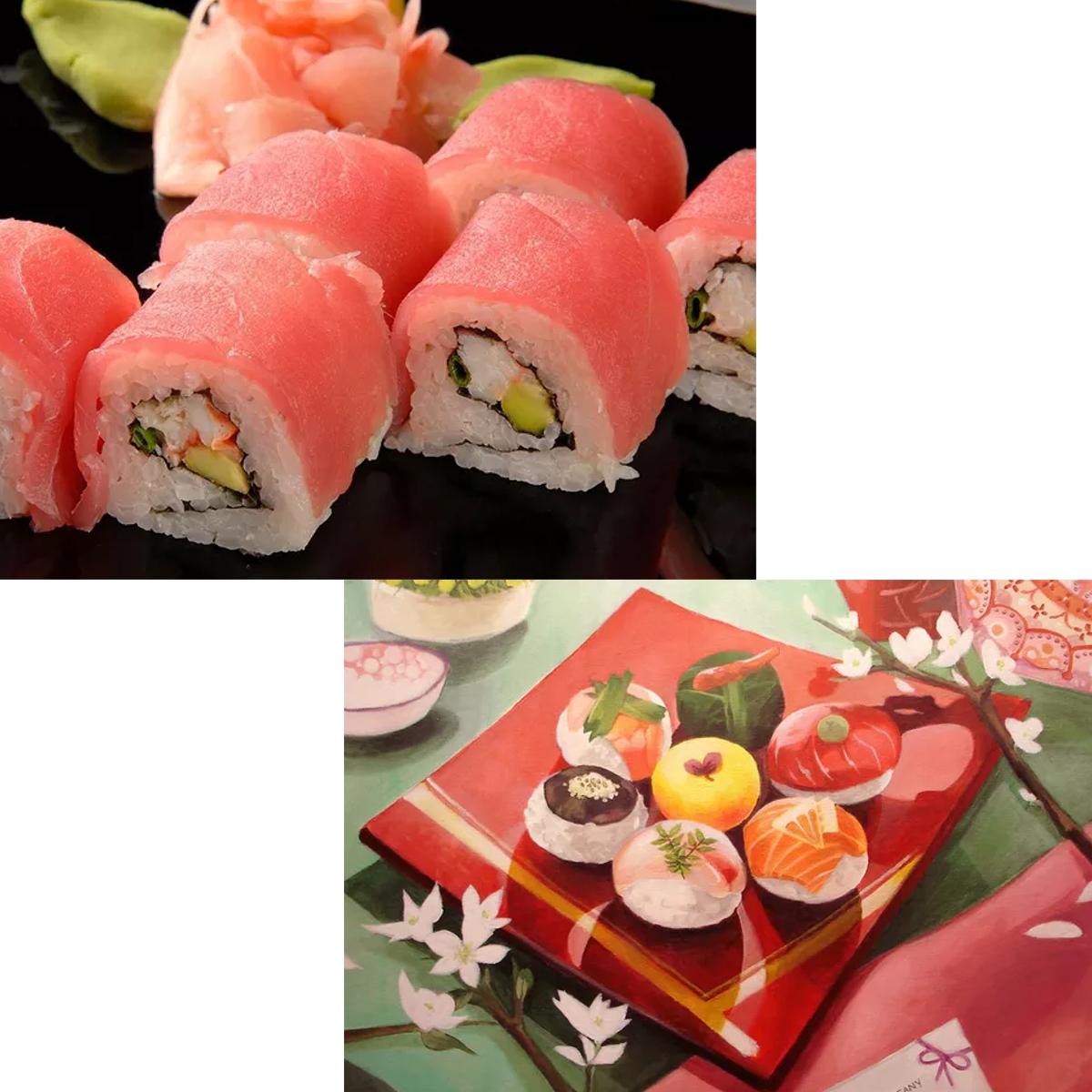 Кухонные ножи и прочие приборы Горячие 9pcs / set sushi roller bamboo mat spoon палочки для приготовления пищи (Фото 3)