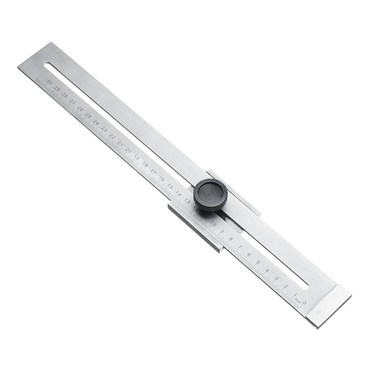 hauteur et jauge de marquage R/ègle de mesure dangle r/églable R/ègle dangle carr/é combin/ée Outil de mesure multifonctionnel en acier inoxydable de 300 mm Profondeur