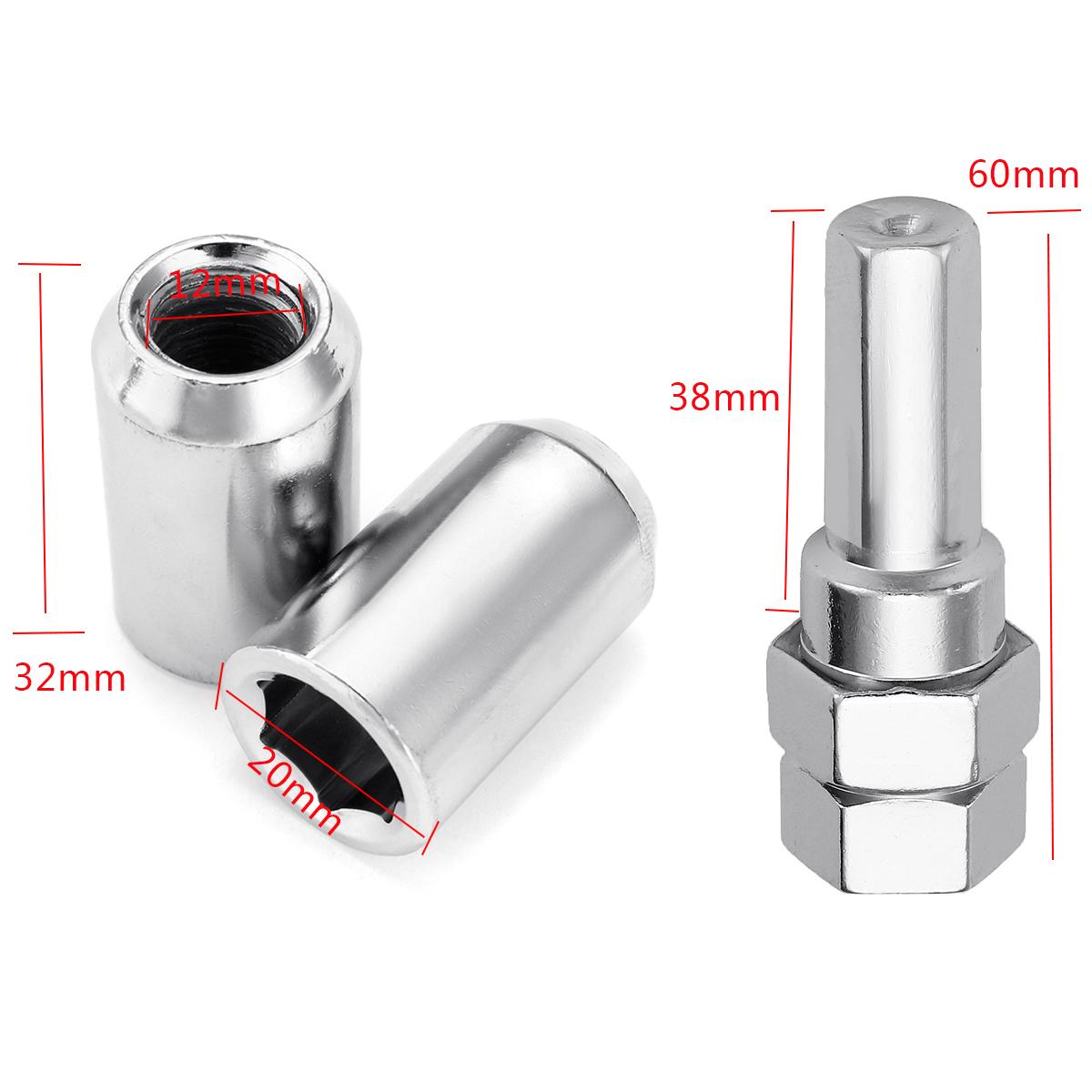 Clé M12x1.5mm pour HYUNDAI i30 Verrouillage écrous de roue 4