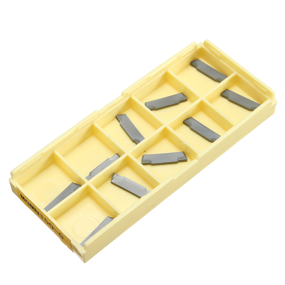 Drillpro 10pcs MGMN150-G 1.5mm CNC Lathe Grooving Carbide Blades Cutting Insert,Tungsten steel