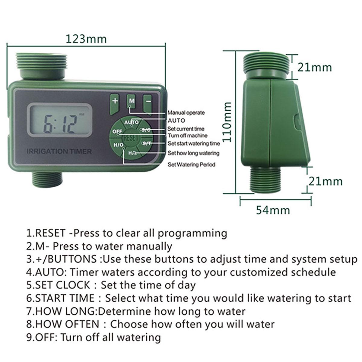 2pc automatique électronique eau minuteur jardin irrigation Contrôleur Système