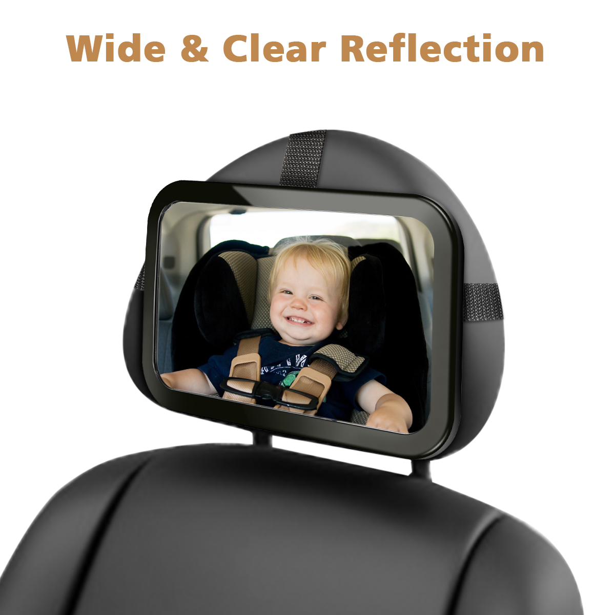Audew View Rear Baby/Child Car Seat Safety Mirror,Baby Back Seat Mirror,360 Degree Adjustability 29*19cm
