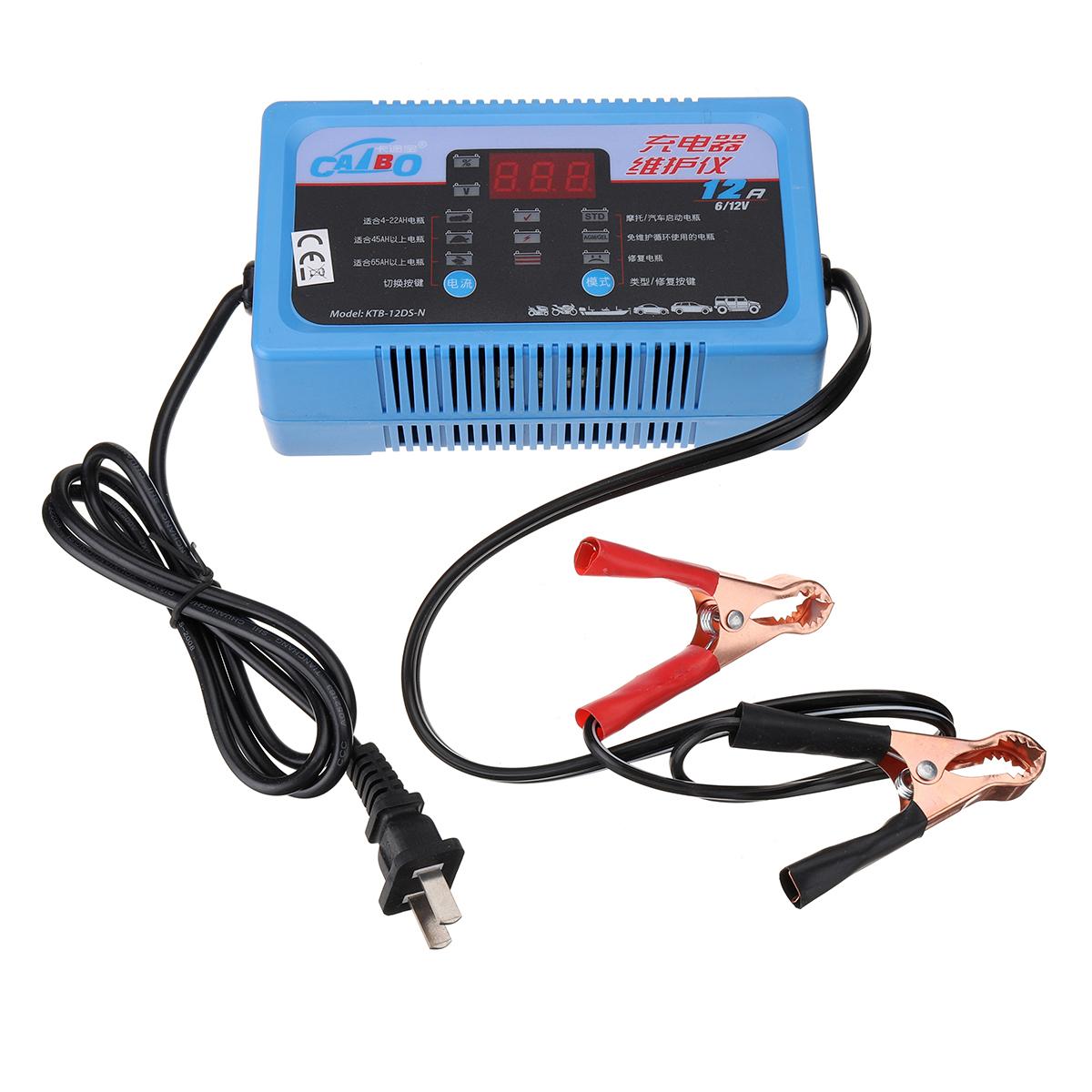 MOTOPOWER MP00207A 12V 2Amp Chargeur de batterie automatique intelligent Maintainer pour les deux batteries au plomb et les batteries au lithium-ion