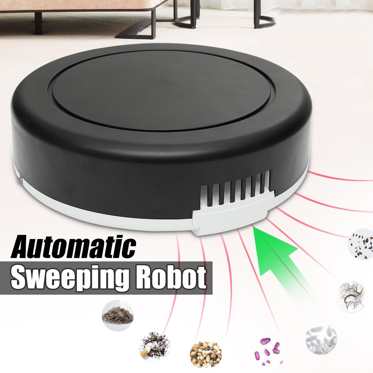 USB Aspirateur Automatique Nettoyeur Poussière Balayeuse Smart Robot Silence FR